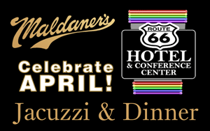 Combine a Route 66 Hotel Jacuzzi Suite and a delicious meal at Maldaner's for a romantic anniversary date, a fabulous birthday gift or just a relaxing getaway in Springfield, Illinois.