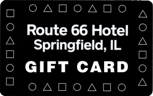 Route 66 Hotel Gift Cards make a wonderful gift for friends, family and business associates who visit Springfield. Cards can be purchased at the front desk.
