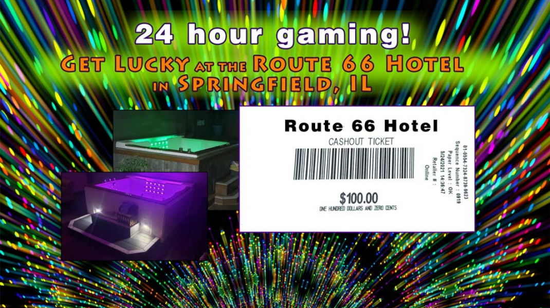 Book a Jacuzzi @ $299 inclusive & receive a $100 voucher to our gaming room! CALL 217-529-6626! Good through June 30
