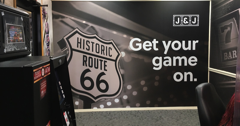 Route 66 Hotel in Springfield IL has a 24x7 gaming room!
