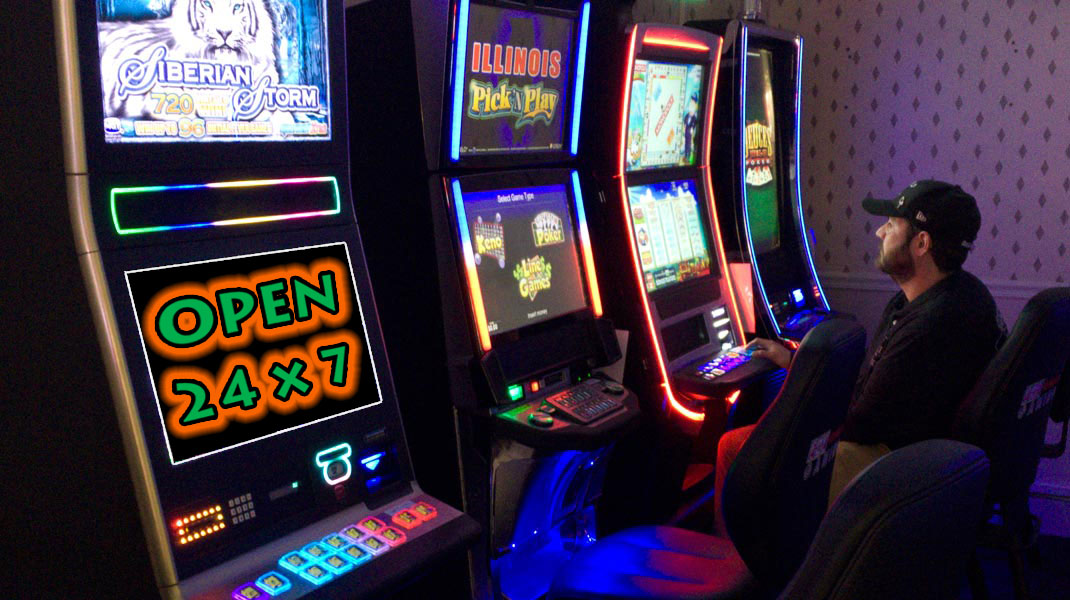 Route 66 Hotel Gaming Center in Springfield IL - open 24x7.