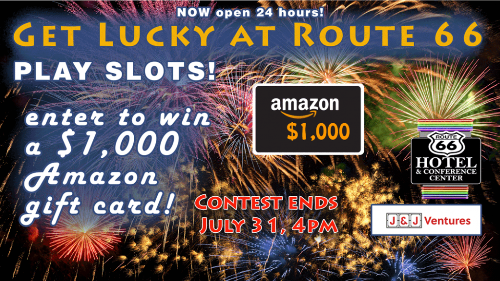 Route 66 Hotel Springfield IL - summer gaming giveaway - enter to win a $1,000 Amazon Gift Card!