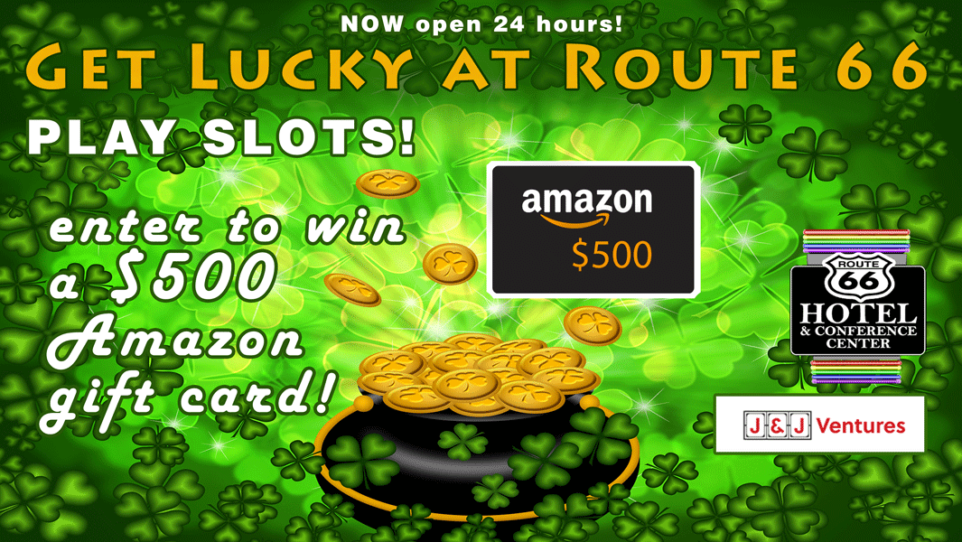 Route 66 Hotel Springfield IL - March gaming giveaway - enter to win a $500 Amazon Gift Card!