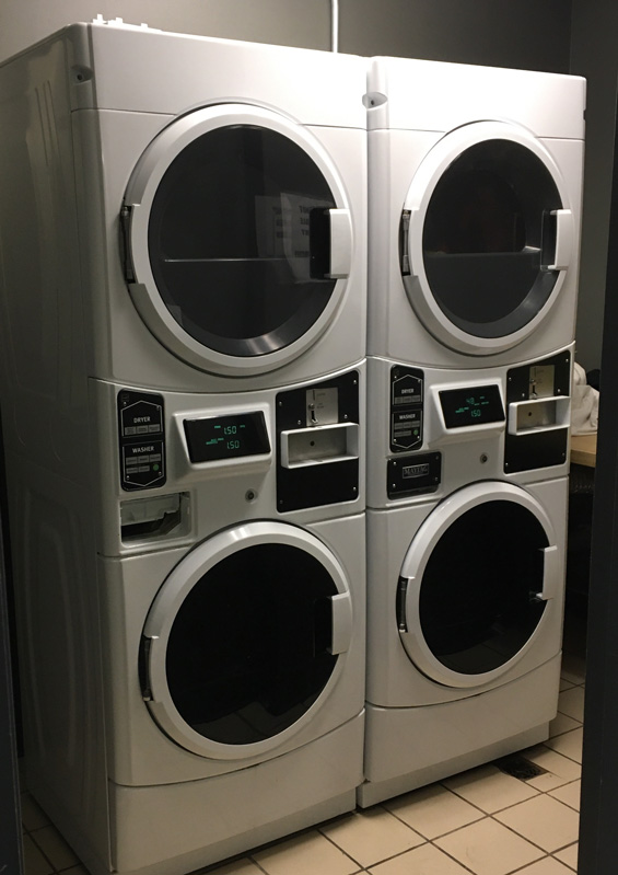 Route 66 Hotel in Springfield IL: on-site coin-operated laundry room for guests.