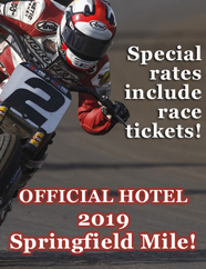 Official hotel of the 2019 Springfield Mile! Special rates include race tickets! Springfield IL, Route 66 Hotel and Conference Center