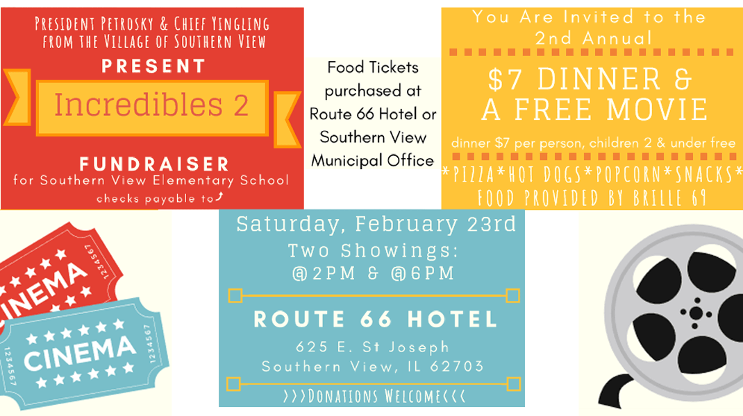 Fundraiser Dinner for Southern View Elementary School – February 23, 2019